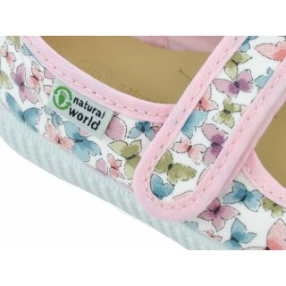Natural World Kinder Spangenschuh 56012 rosa